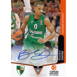 Goodwin Champions 2019 Turkish Airlines EuroLeague Autographs Brandon Davies (Zalgiris Kaunas)